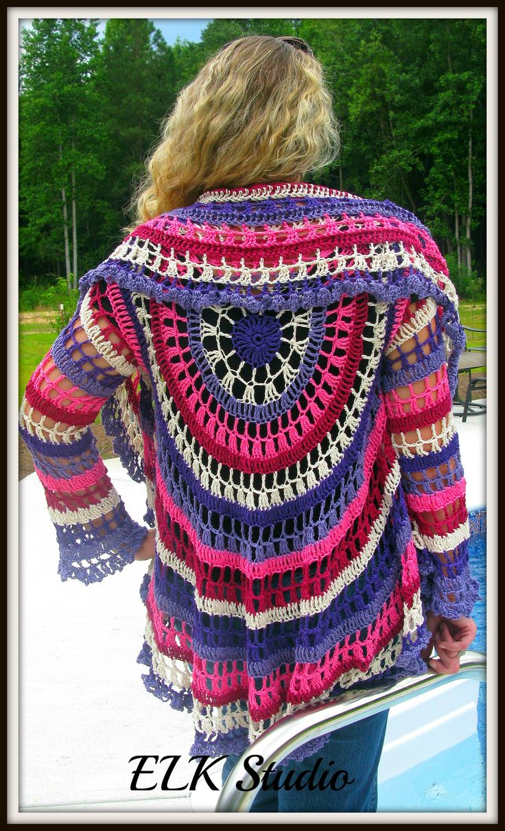 58 best haken vesten images on pinterest beautiful clothes and ravelry project gallery for circle jacket crochet with 2 strands alpaca pattern by drops design bankloansurffo Image collections