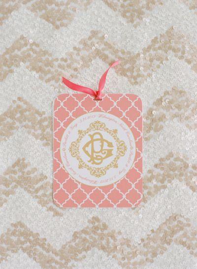 #monogram #chevron Photography by abbyjiu.com  Read more - http://www.stylemepretty.com/2013/09/10/north-carolina-wedding-from-abby-jiu-salt-harbor-designs/