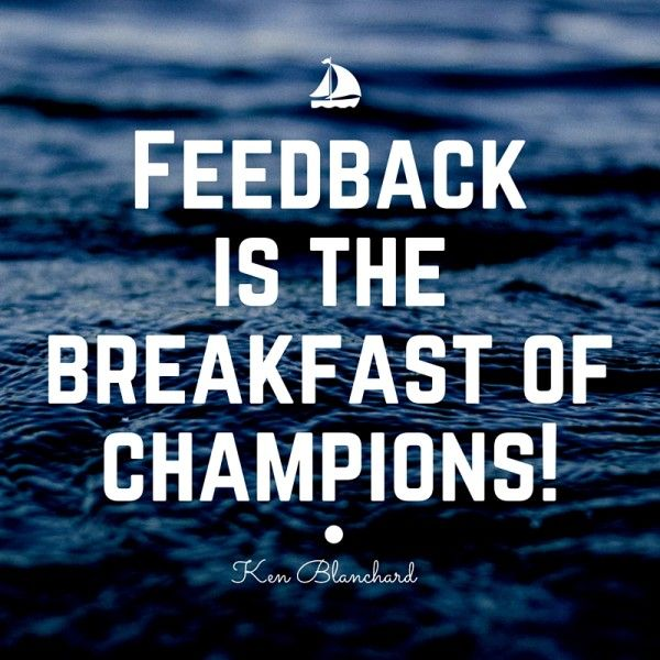 """Ken Blanchard once said, """"Feedback is the breakfast of champions!"""" The more I grow, the more I agree with his statement. I am starting to really enjoy getting feedback from others. Why? Because every time I get feedback, it's an opportunity to get better! Recently, I've been learning the power of feedback through three different […]"""