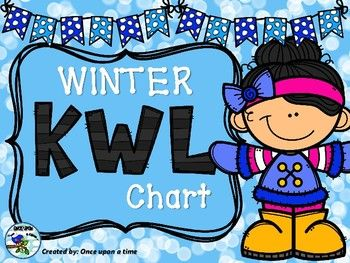 K-W-L Chart about winter themes.Colored and black & white version.Happy teaching !!!