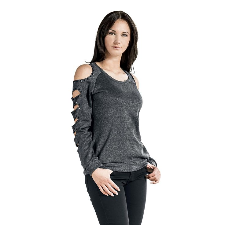 Jersey con tachuelas - Sudadera mujer por EMP Black Premium http://emp.me/ARA