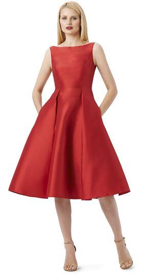 Style#: 041899070             Colors: Black, Blue, Fuschia, Red, Turquoise, Violet             Description: Sleeveless Tea- Length Dress             Sizes: 2-16, 4P-14P, 14W-24W