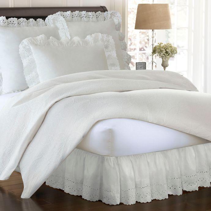 Smootheweave Ruffled Eyelet Bed Skirt White Bed Skirt Bedskirt
