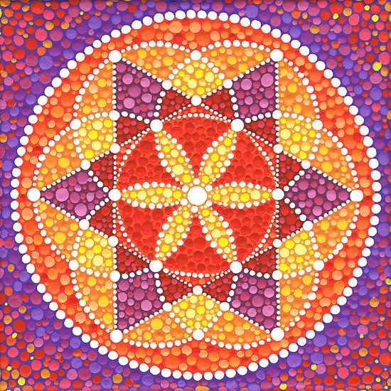 Δ✡~GeometríaSagrada~✡Δ۞    Sacred Geometry Star Flower by Elspeth McLean.