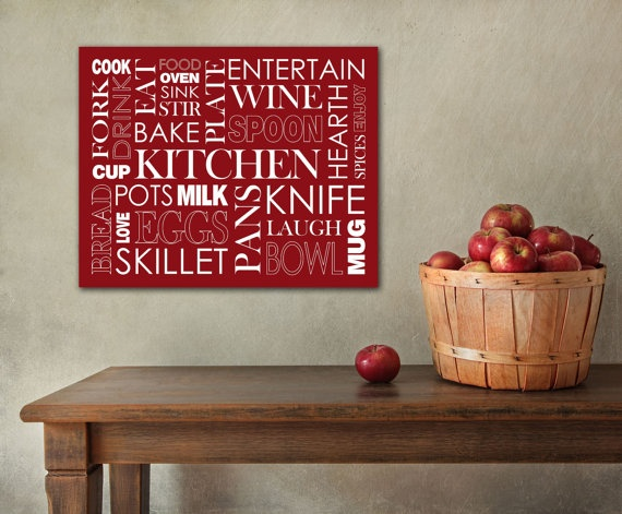 Kitchen Themed Typography Word Art On 20x24 Canvas By TYPOGRFX, $75.00 Part 24