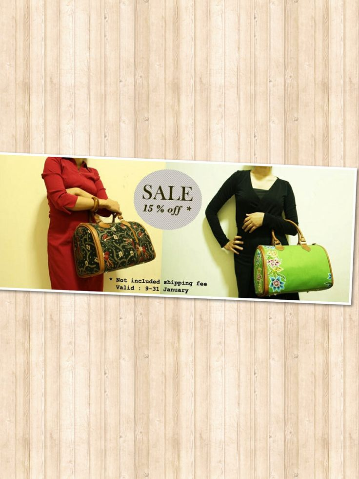 15 % off for these two Laras Bag series from 9-31 January, order now.