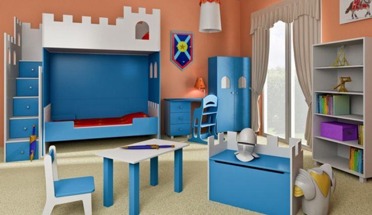 Pokój dla prawdziwego rycerza :) Propozycja salonu Nowoczesne Meble Cyrskie. http://www.mega-meble.pl/produkt-Lozko_Zamek-2502