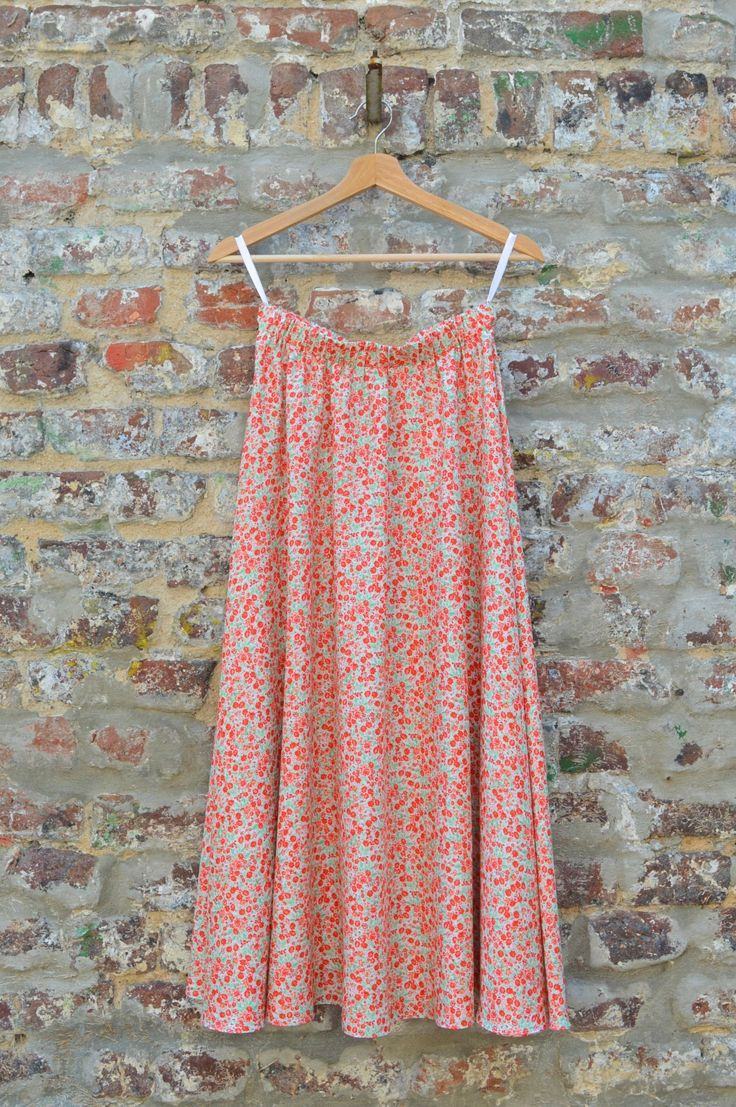 How to sew a simple half circle Skirt without a zipper