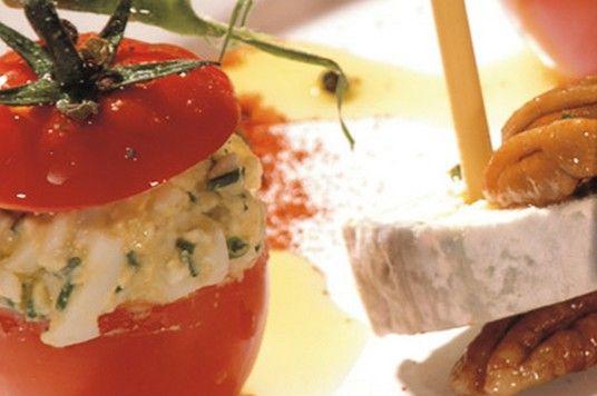 Terroir de Touraine - Mangez local et de saison - Les recettes - Tomates farcies au Sainte Maure de Touraine