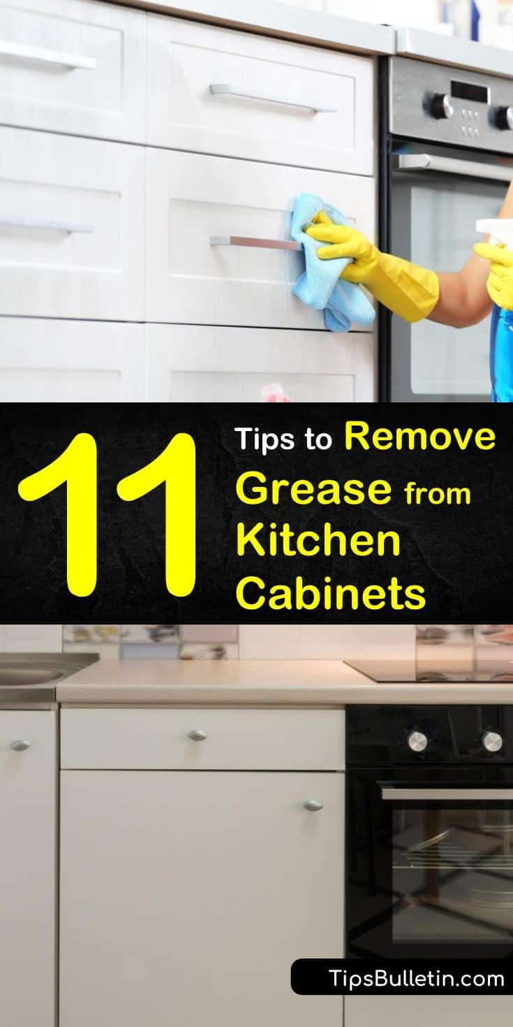 How To Remove Grease From Kitchen Cabinets 11 Clever Tips And Degreaser Recipes Clean Kitchen Cabinets Cleaning Cabinets House Cleaning Tips