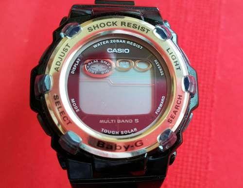 Reloj Dama Casio Baby-g Solar Radio Controlado Multibanda 5