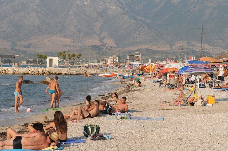 Plaża w Oricum / Oricum Beach (Vlora County, Albania)