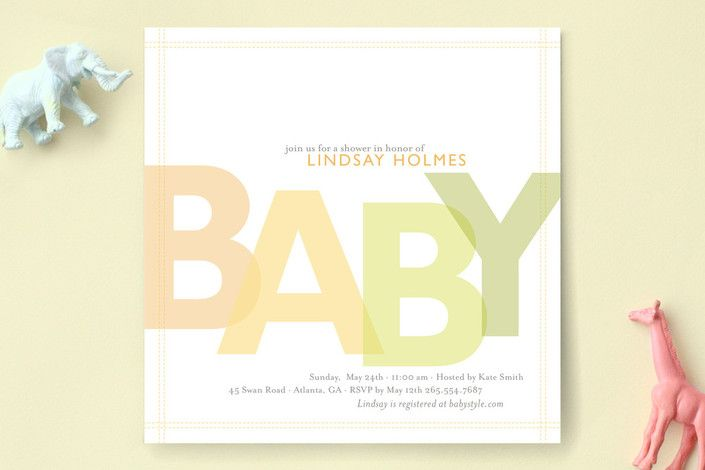 Citrus Celebration Baby Shower Invitations by sweet tree studio at minted.com