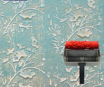 Molde impressão parede de 7 polegadas estampados rolo para decoração de parede rolo de borracha No.145