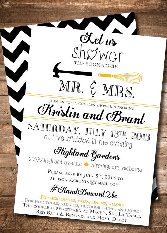 22 best couples shower images on pinterest shower party for Wedding couples shower invitations