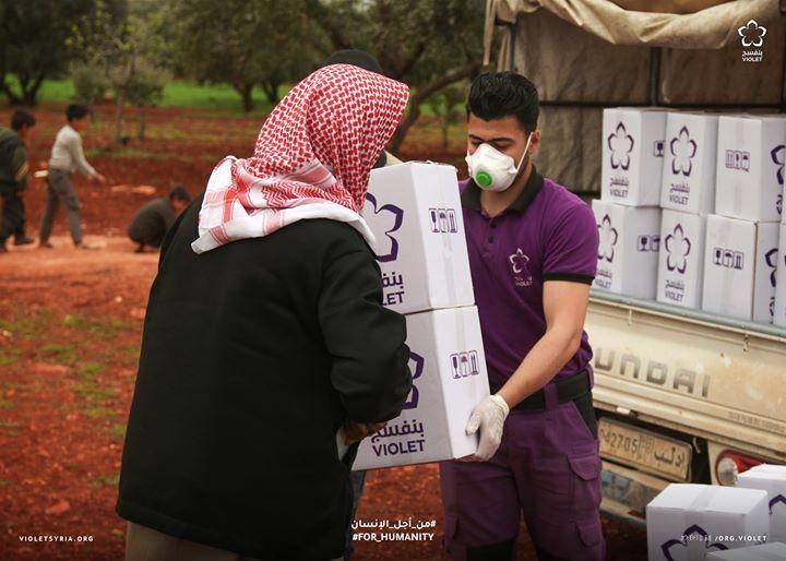 1000 عائلة نازحة مستفيدة من مشروع السلل الطارئة يهدف المشروع تأمين المواد الأساسية الغذائية للعوائل قبل شهر رمضان المبارك في محافظة ادلب Violet Human Fashion