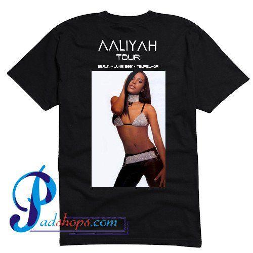 Aaliyah Tour T Shirt Back