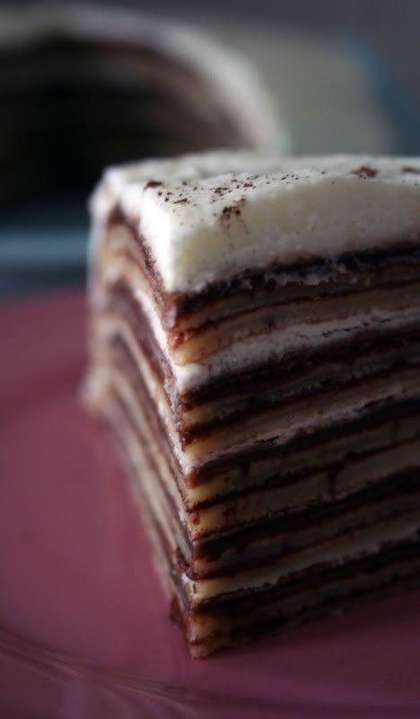 Nutella pancake cake