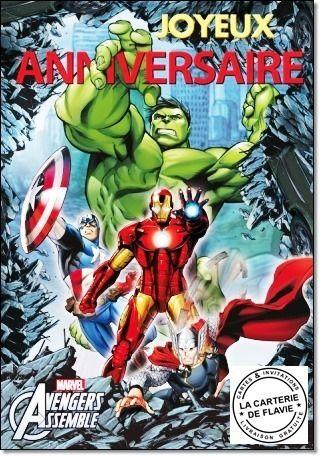 Cartes Anniversaire The Avengers à retrouver sur notre site http://lacarteriedeflavie.com/Cartes-Marvel-The-Avengers-anniversaire-fete