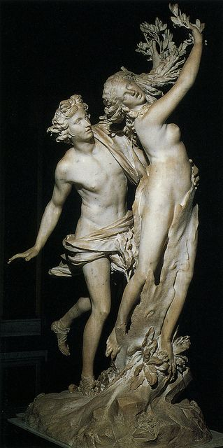 Daphne and Apollo, Bernini. Borghese Gallery  One of my FAVORITE sculptures and stories. *happysigh*