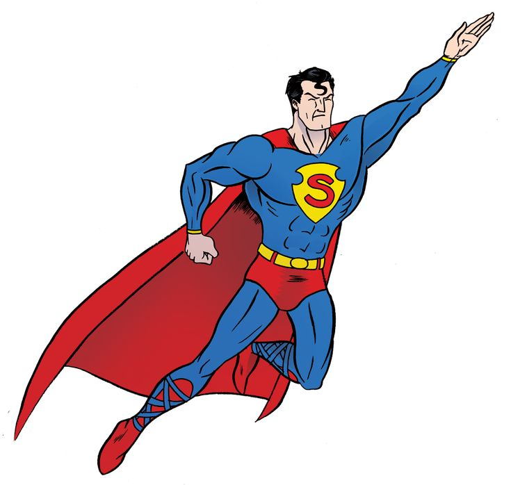 clipart superman flying - photo #6