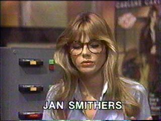 """You can have your Loni Anderson. I was shy, """"bookish"""" and I had glasses: I wanted to grow up to be Bailey Quarters (the lovely Jan Smithers). [WKRP in Cincinnati]"""