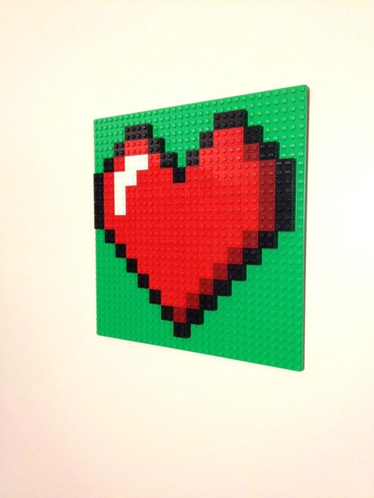 Wall Decor: 60 Lego Batman Wall Decor Excellent Red Or Pink Heart Lego Wall  Art Hanging Picture Pixel 8 Bit Mosaic Bedroom Decor Red Or Pink Heart Lego  Wall ...