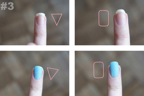 Fingernail shapes. How to DIY nails. Shape.  #fingernails #shape #DIY