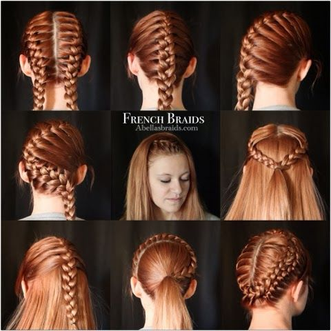 9 ways to wear a french braid from Abella's Braids