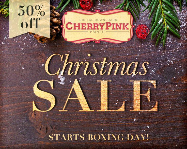Christmas Sale starts Boxing Day! 50% off everything in the shop!  visit www.etsy.com/shop/cherrypinkprints!  #sale #etsy #scrapbooking #craft #supplies #cherrypinkprints #50%off #shopsmall #papercraft #aliceinwonderland #partysupplies #digitalprints #etsyuk