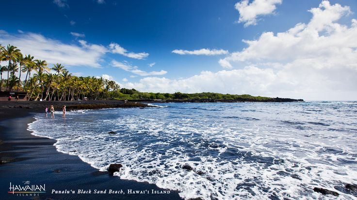 Punaluu Black Sand Beach on #Hawaii, the #BigIsland. #gohawaii #travel
