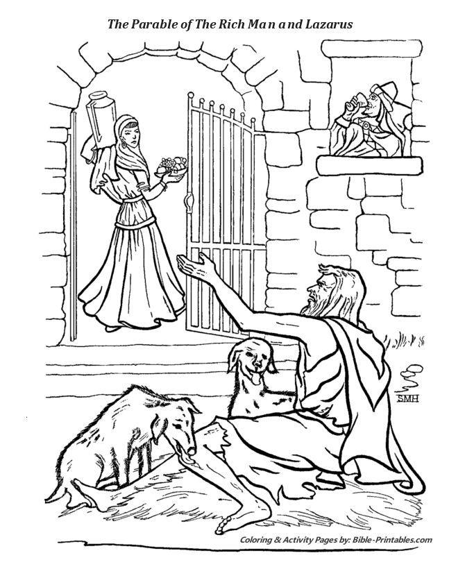 Rich Kids The Parables Of Jesus Coloring Pages Rich Kids Jesus