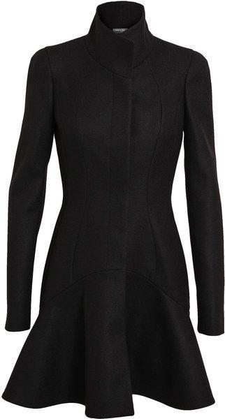 Alexander Mcqueen Black Virgin Wool Princess Coat. #alexandermcqueen #mcqueen #wool #princesscoat #coat #outerwear #noir #flaredbottom #collar #wardrobe #style #fashion #mode #moda #estilo #estile
