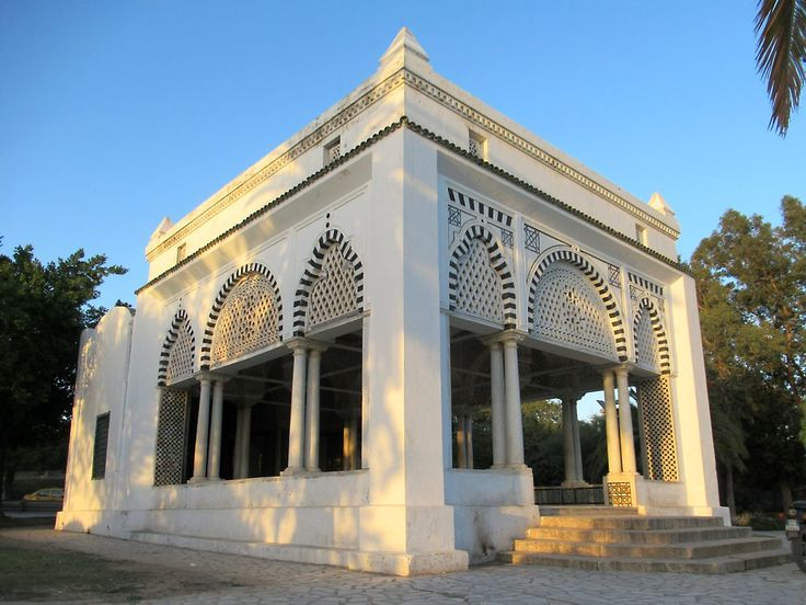 An elegant 18th century pavilion called La Koubba in Parc du Belvédère provides good views of Tunis, Tunisia.