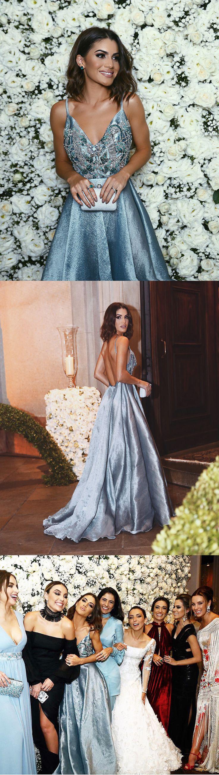 long prom dress, 2017 prom dress, blue long prom dress, backless long prom dress, formal evening dress, party dress