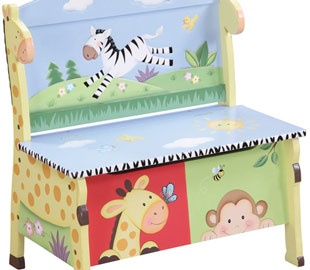 Childrens bench toy box