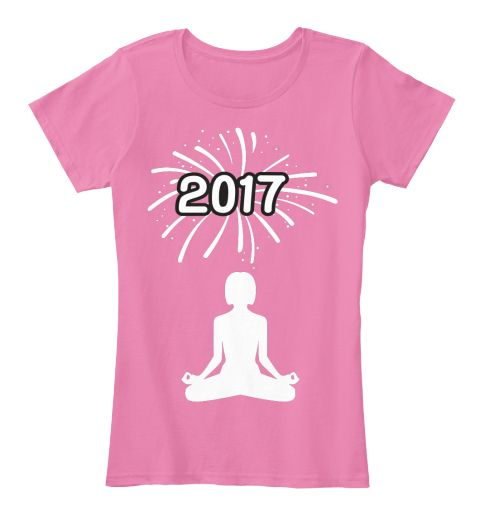Yoga New Year! True Pink Women's T-Shirt Front