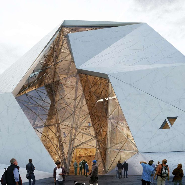 Polour Rock Climbing Hall New Wave Architecture
