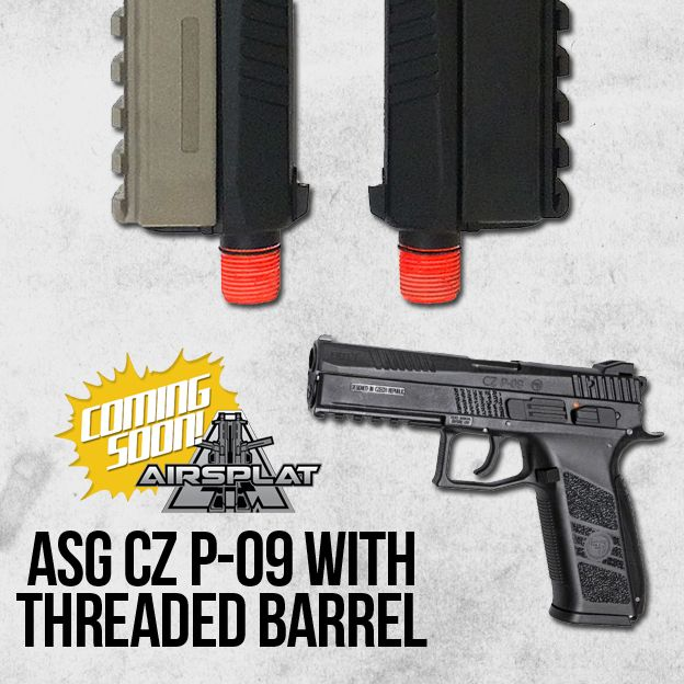 **ASG CZ P-09 with THREADED BARREL!!**  COMING SOON to AirSplat.com. What do you think? Like, Share, & Leave a comment below! http://www.airsplat.com/asg-cz-p-09-gas-blowback-airsoft-pistol.html