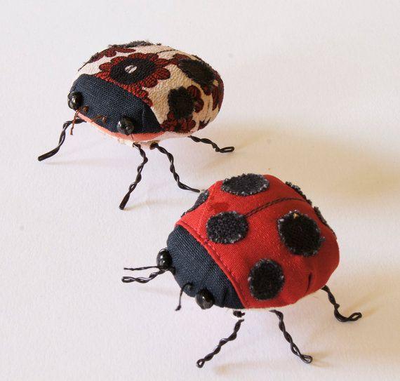Ladybird Ladybug Beetle Soft Sculpture by BlueTerracotta on Etsy, €60.00