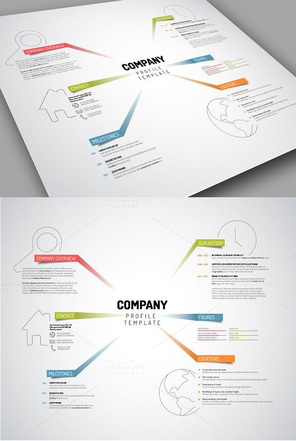 Vector Company Profile Template. Business Infographic. $8.00