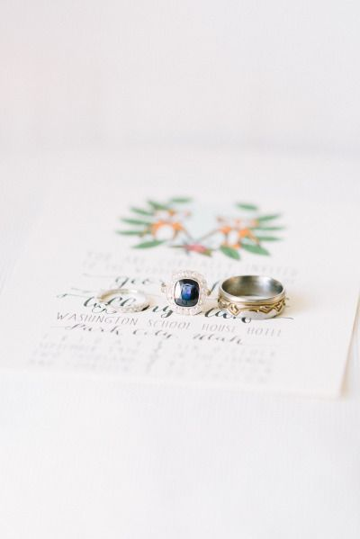 Dreamy sapphire: http://www.stylemepretty.com/2015/06/02/elegant-park-city-wedding/ | Photography: D'Arcy Benincosa - http://www.benincosaweddings.com/