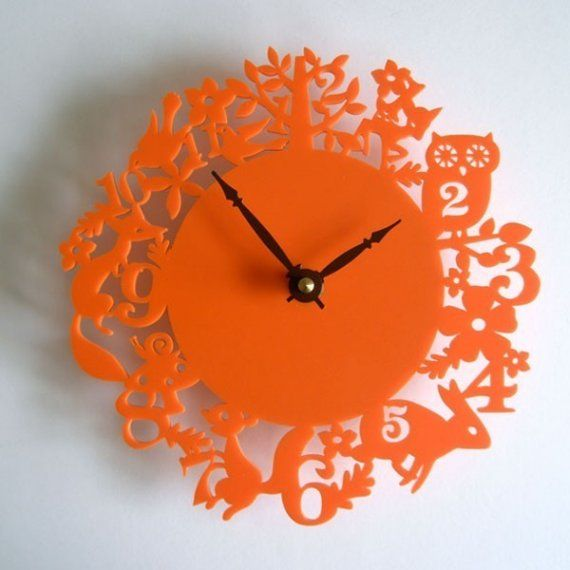 orange clock - $78 on etsy. But I think K would kill me if I spent this much on a clock.