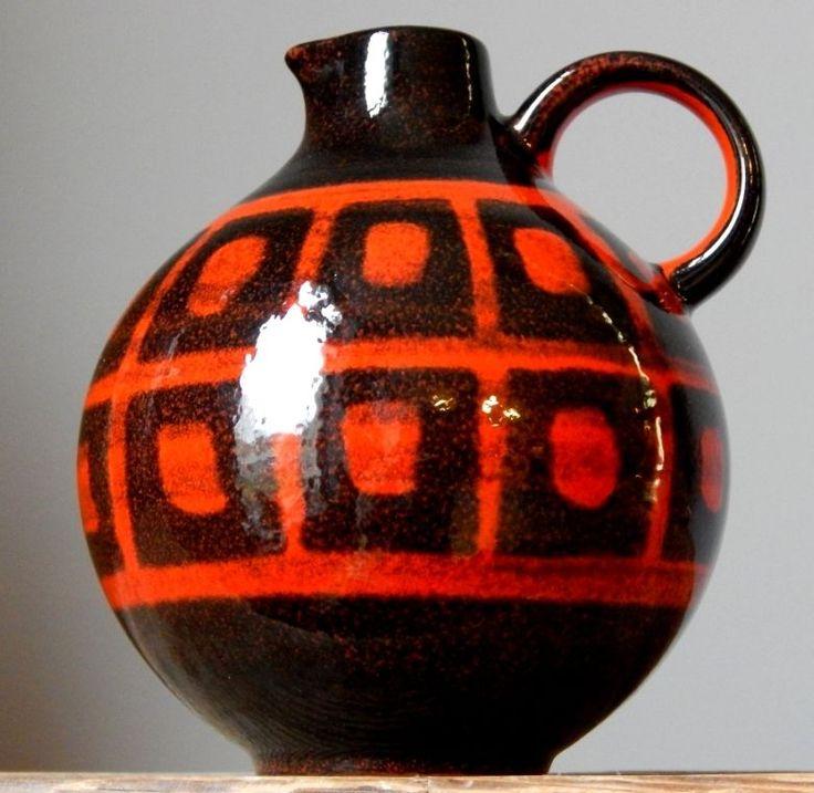 RETRO Vintage 60-70s WAECHTERSBACH Vase Pitcher West German Pottery Fat Lava Era