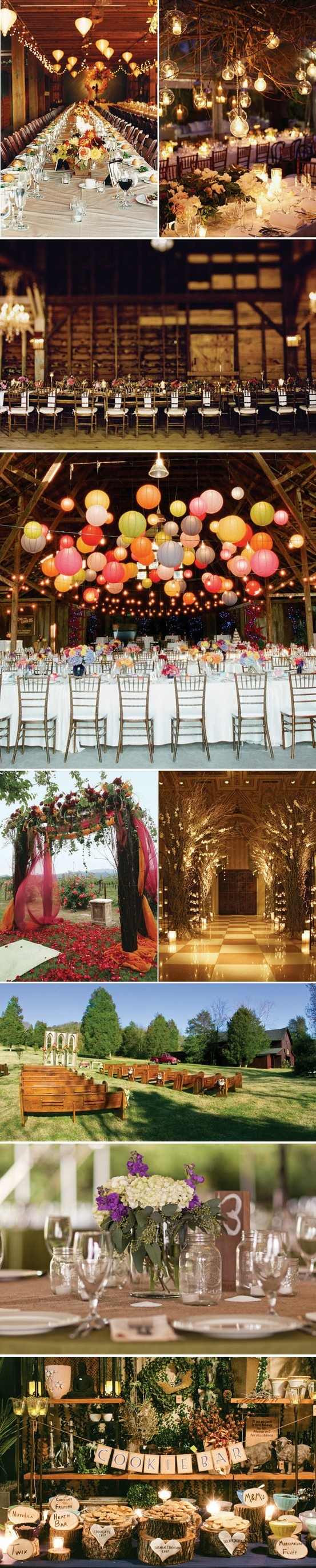 I think this is what heaven must look like G:) rustic wedding decor inspiration