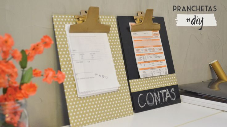 DIY: pranchetas decoradas pro escritório