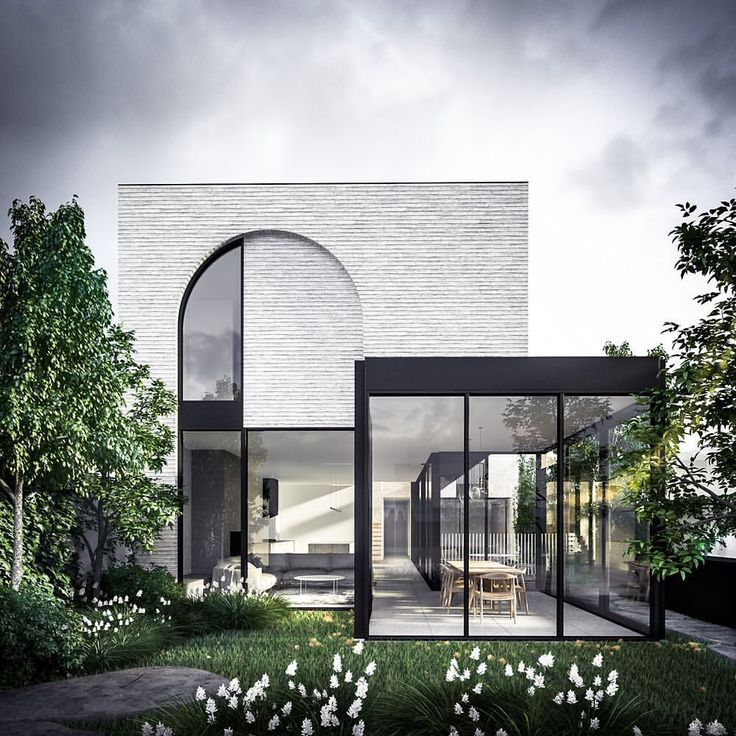 """1,932 Likes, 46 Comments - Auhaus Architecture (@auhaus) on Instagram: """"@auhaus #fitzroyhouse rear view through dining pavilion"""""""