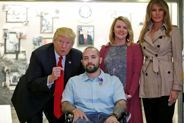 "President Donald Trump on Saturday awarded a Purple Heart to an Army sergeant recently wounded in Afghanistan, the first of many Trump likely will award during his service as commander in chief of the U.S. military.""When I heard about this ... I wanted to do it myself,""..."