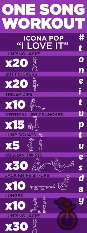 1 song workout! Gonna try this!
