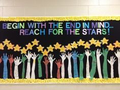 Begin with the end in mind. Reach for the stars